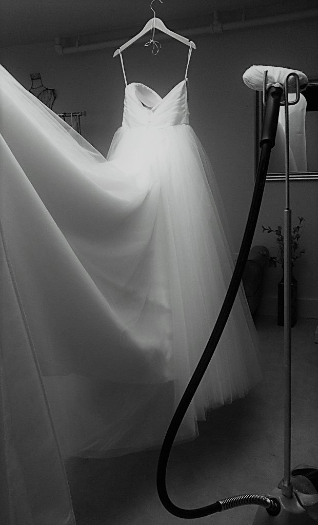 Wedding Gown Steaming – Anne Gregory Bridal